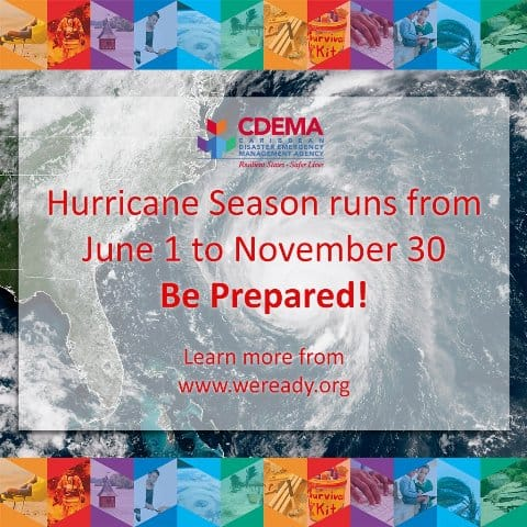CDEMA Hurricane Season notice