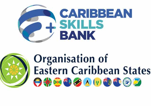 Caribbean Skills Bank and OECS logos