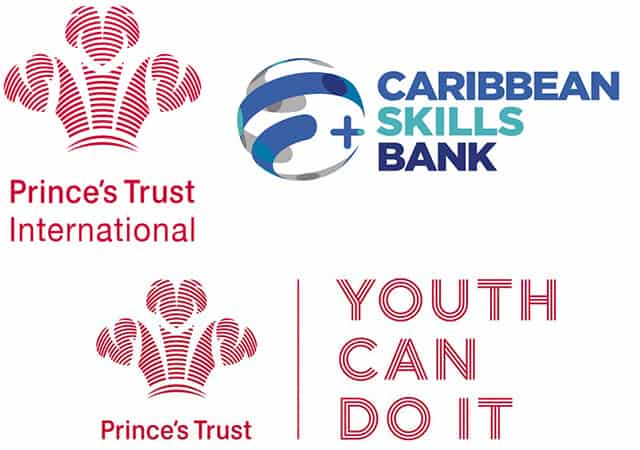 Princes Trust and Caribbean Skills Bank logos